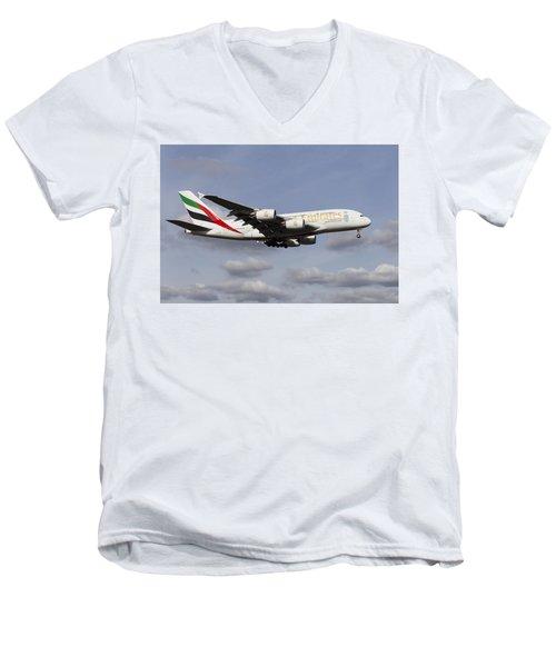 Emirates A380 Airbus Men's V-Neck T-Shirt