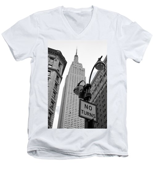 Men's V-Neck T-Shirt featuring the photograph Empire State Building by Michael Dorn