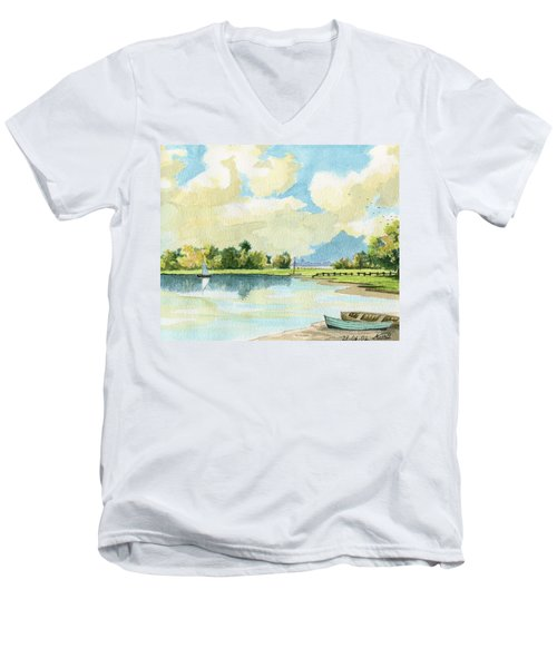 Fishing Lake Men's V-Neck T-Shirt