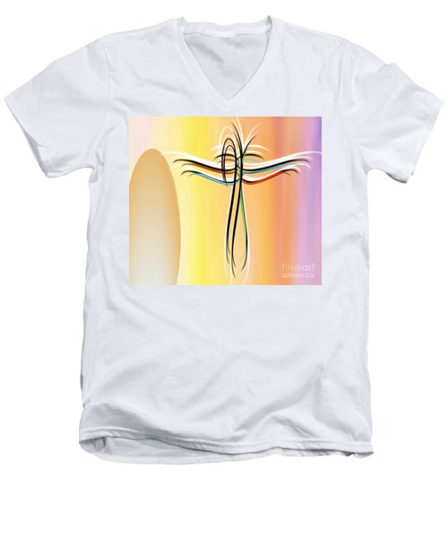 Freedom Men's V-Neck T-Shirt by Belinda Threeths