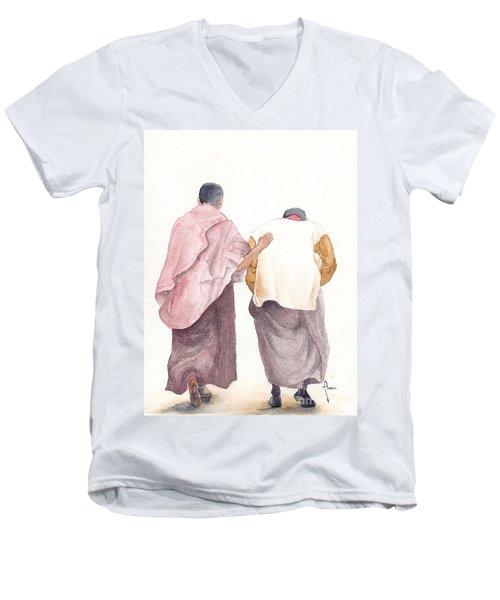 Friends Men's V-Neck T-Shirt by Annemeet Hasidi- van der Leij