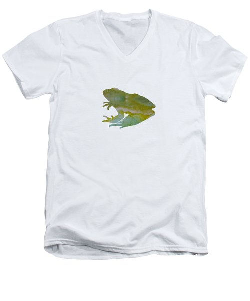 Frog Men's V-Neck T-Shirt by Mordax Furittus