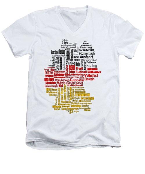 Germany Map Men's V-Neck T-Shirt