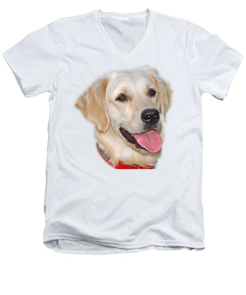 Golden Retriever Men's V-Neck T-Shirt