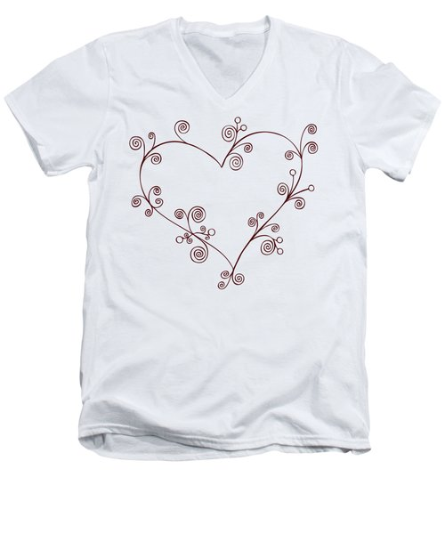 Heart Men's V-Neck T-Shirt by Frank Tschakert