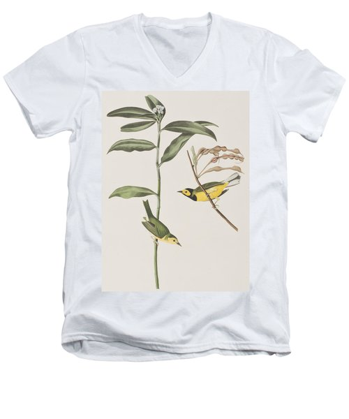 Hooded Warbler  Men's V-Neck T-Shirt