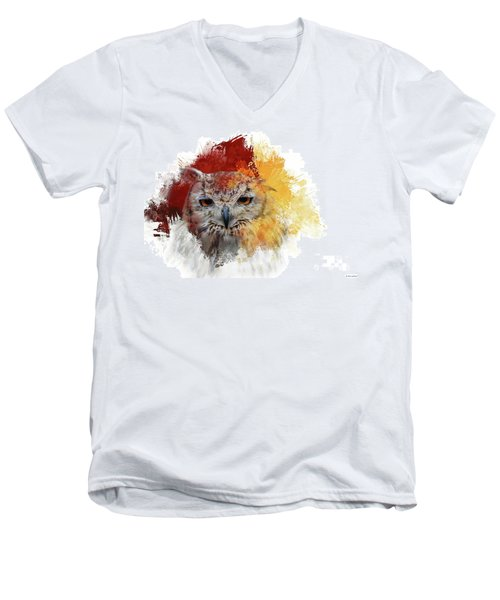 Indian Eagle-owl Men's V-Neck T-Shirt