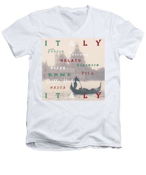 Italy Men's V-Neck T-Shirt