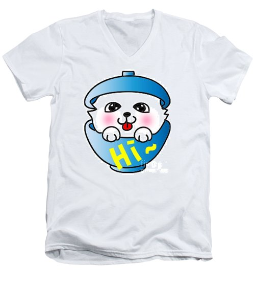 Jummy And Bobby Men's V-Neck T-Shirt