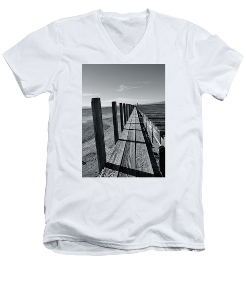 Boardwalk To The Lake Men's V-Neck T-Shirt