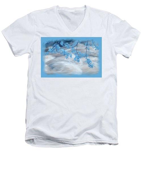 Leaves Over Gossamer Waters Men's V-Neck T-Shirt