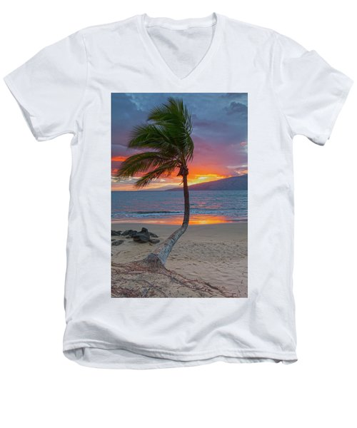 Lonely Palm Men's V-Neck T-Shirt by James Roemmling