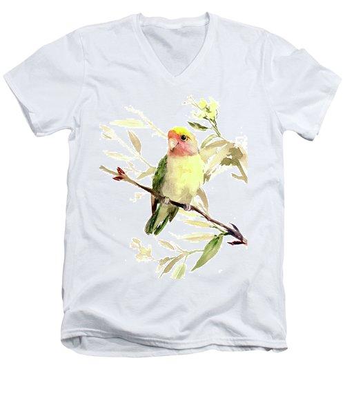 Lovebird Men's V-Neck T-Shirt by Suren Nersisyan