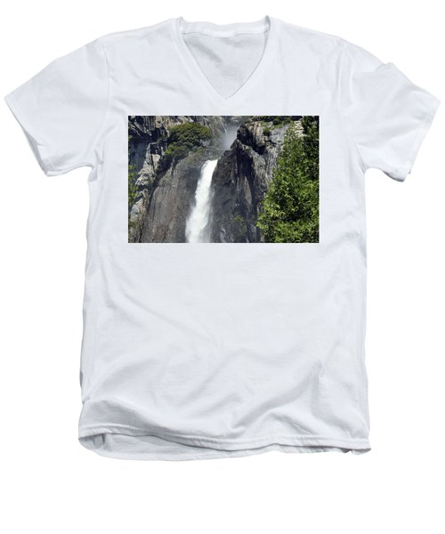 Lower Yosemite Falls Men's V-Neck T-Shirt