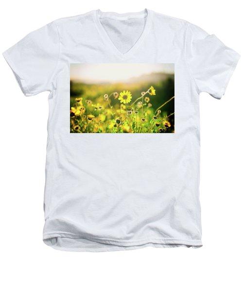 Nature's Smile Series Men's V-Neck T-Shirt by Joseph S Giacalone