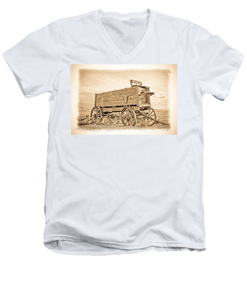 Old West Wagon  Men's V-Neck T-Shirt