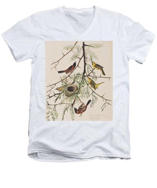 Orchard Oriole Men's V-Neck T-Shirt by John James Audubon
