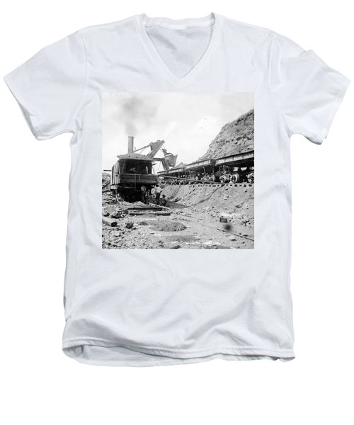 Panama Canal - Construction - C 1910 Men's V-Neck T-Shirt by International  Images