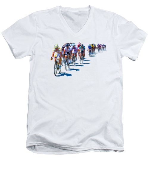 Philadelphia Bike Race Men's V-Neck T-Shirt