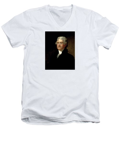 President Thomas Jefferson  Men's V-Neck T-Shirt by War Is Hell Store