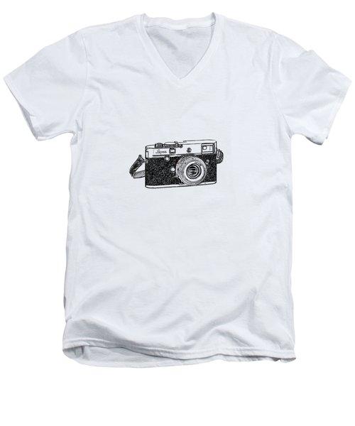 Rangefinder Camera Men's V-Neck T-Shirt by Setsiri Silapasuwanchai