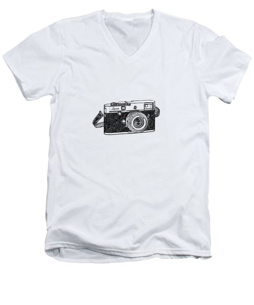 Rangefinder Camera Men's V-Neck T-Shirt