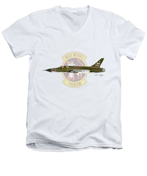 Republic F-105g Wild Weasel Men's V-Neck T-Shirt