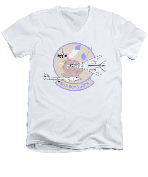 Rockwell B-1b Lancer Men's V-Neck T-Shirt by Arthur Eggers