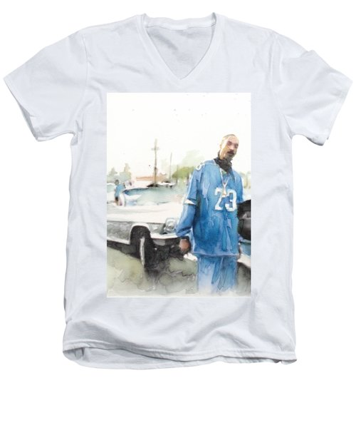 Snoop Detail Men's V-Neck T-Shirt by Jani Heinonen