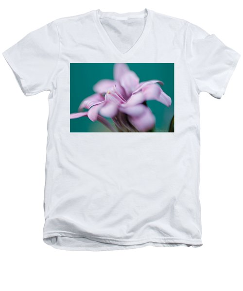 Soft Pink Men's V-Neck T-Shirt