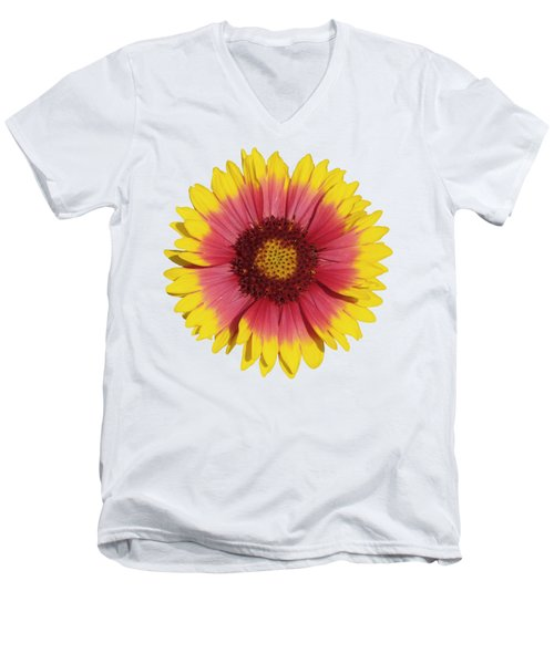 Men's V-Neck T-Shirt featuring the photograph Spring Flower by George Atsametakis