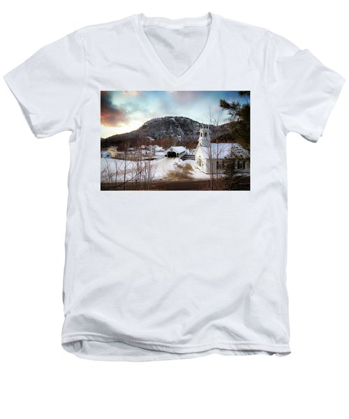 Men's V-Neck T-Shirt featuring the photograph Stark New Hampshire by Robert Clifford