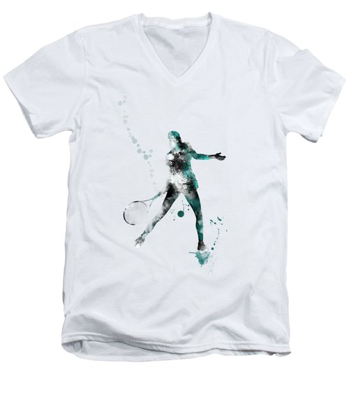 Tennis Player Men's V-Neck T-Shirt