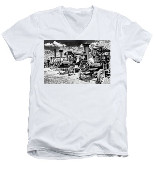 Men's V-Neck T-Shirt featuring the photograph The Old Way Of Farming by Paul W Faust - Impressions of Light