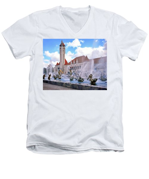 Union Station - St Louis Men's V-Neck T-Shirt