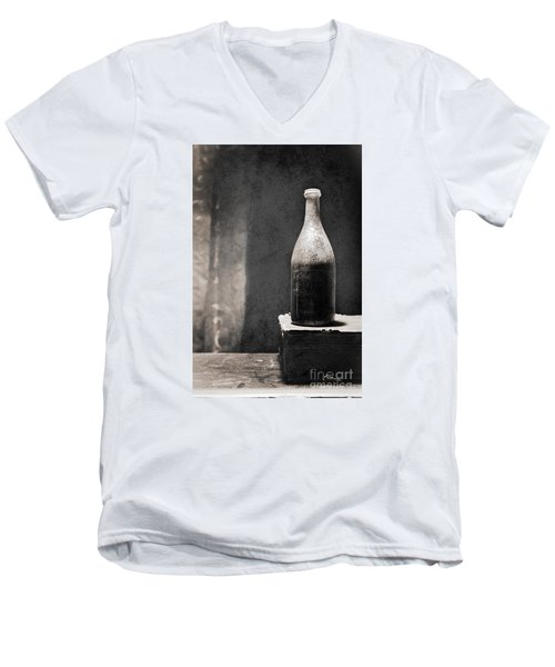Vintage Beer Bottle Men's V-Neck T-Shirt by Andrey  Godyaykin