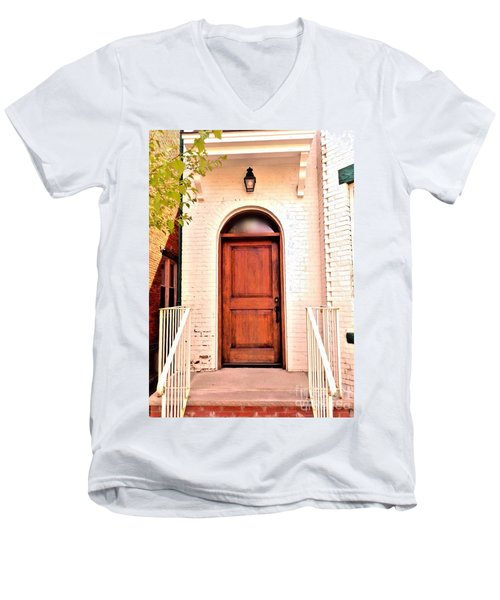 Men's V-Neck T-Shirt featuring the photograph Welcome Home by Becky Lupe
