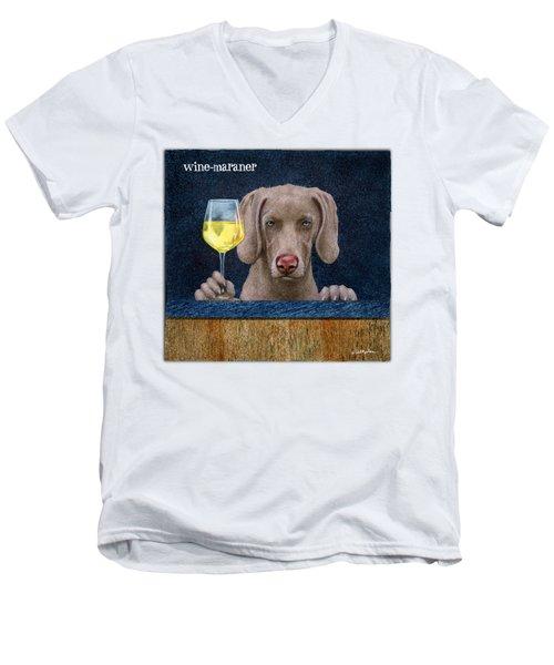 Wine-maraner Men's V-Neck T-Shirt
