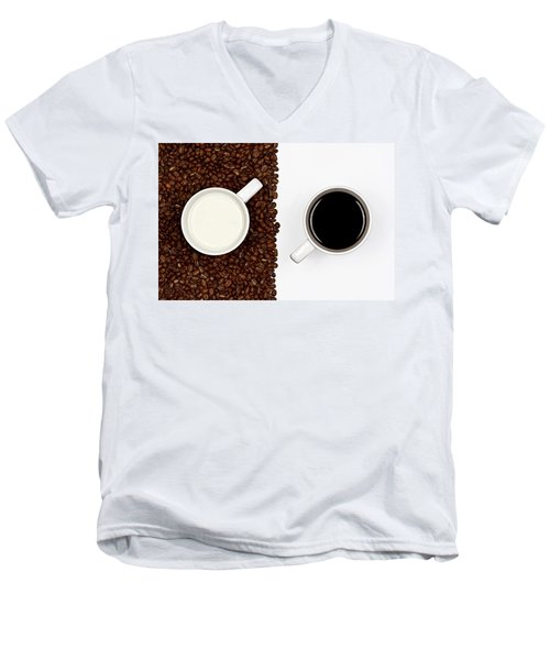 Men's V-Neck T-Shirt featuring the photograph Yin And Yang by Gert Lavsen