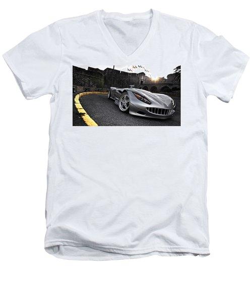 2009 Veritas Rs IIi Sports Car Men's V-Neck T-Shirt