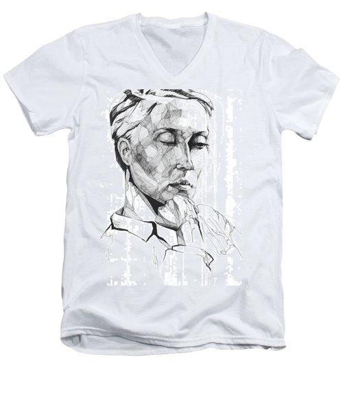20140109 Men's V-Neck T-Shirt