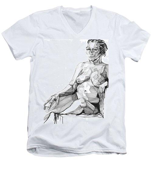 20140113 Men's V-Neck T-Shirt