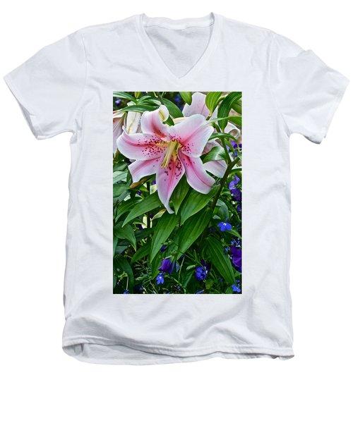 2015 Summer At The Garden Event Garden Lily 3 Men's V-Neck T-Shirt