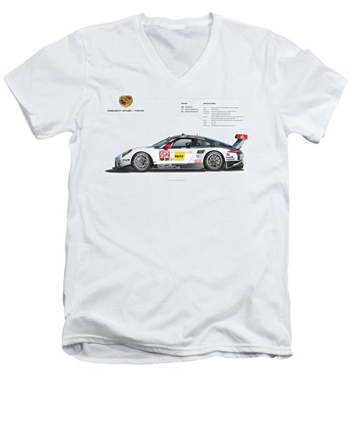 2016 911gt3r Rsr Poster Men's V-Neck T-Shirt