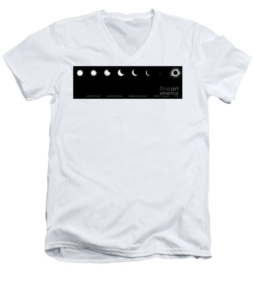2017 Solar Eclipse Men's V-Neck T-Shirt