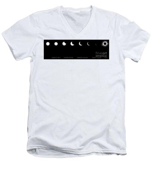 2017 Solar Eclipse Men's V-Neck T-Shirt
