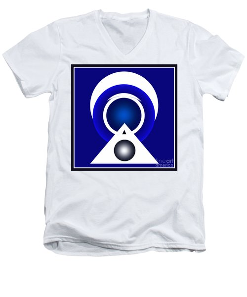 2018 Blue Men's V-Neck T-Shirt