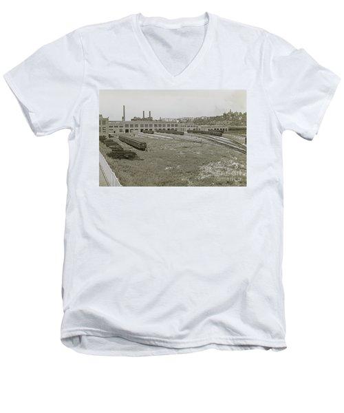 207th Street Railyards Men's V-Neck T-Shirt