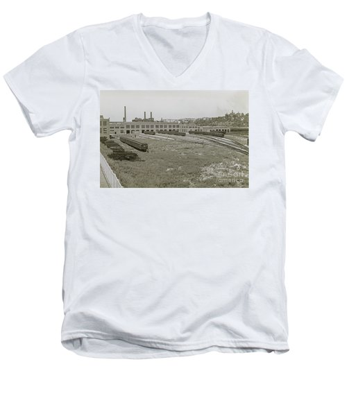 207th Street Railyards Men's V-Neck T-Shirt