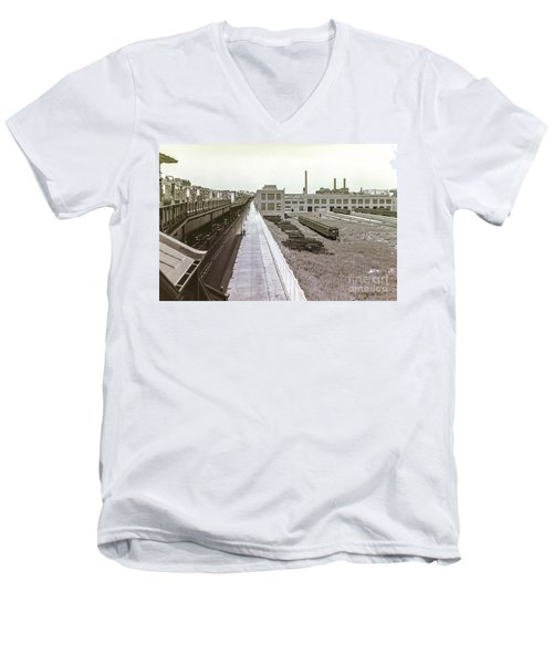 207th Street Subway Yards Men's V-Neck T-Shirt